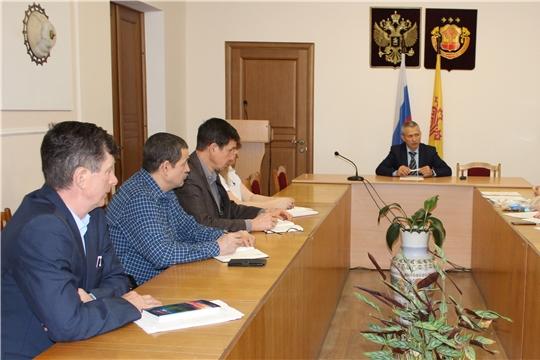 Состоялось заседание организационного комитета по подготовке к Рождественской ёлке главы администрации Урмарского района