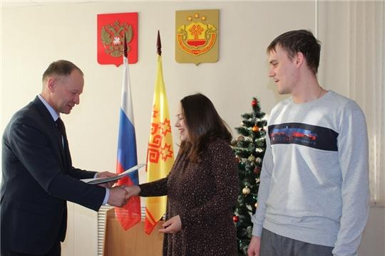 В администрации Урмарского района состоялась торжественная регистрация новорожденного