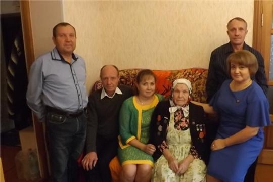 Мать-героиня Поликарпова Анастасия Николаевна отметила 90-й юбилей