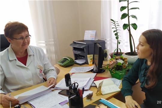 В гостях у Яльчикских медиков побывала журналист Национального радио Чувашии