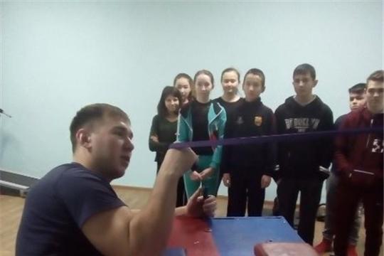 Мастер-класс по армрестлингу - для учащихся школы