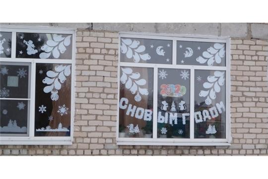 Расписные новогодние окна