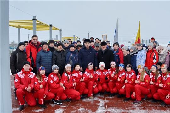 В Яльчикском районе состоялось торжественное открытие спортивной площадки для сдачи норм ГТО