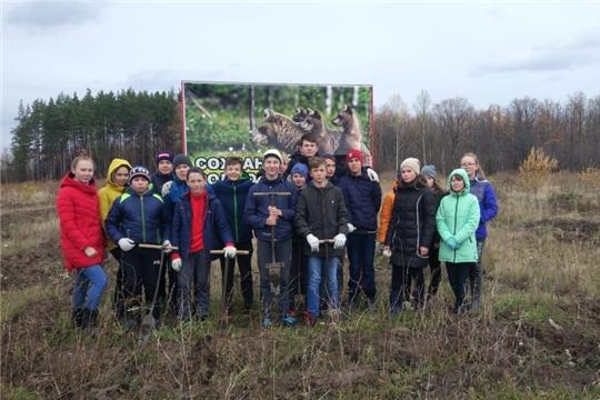 Волонтеры школы п. Опытный – участники акции «Сохраним лес»