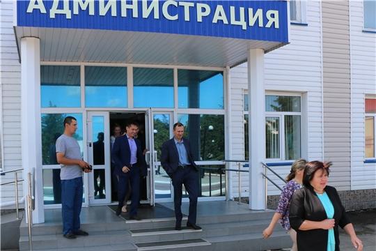 В здании администрации Батыревского района проведена учебная тренировка