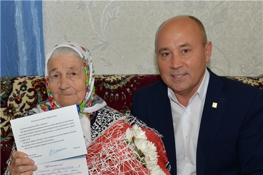Жительница с.Шыгырдан празднует 90-летие