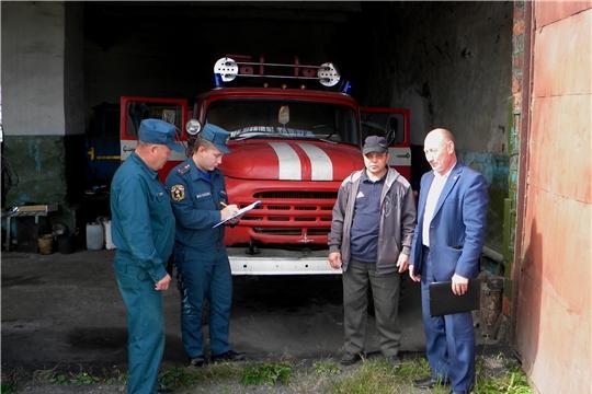 Проверка готовности добровольных пожарных команд Батыревского района к осенне-зимнему периоду.