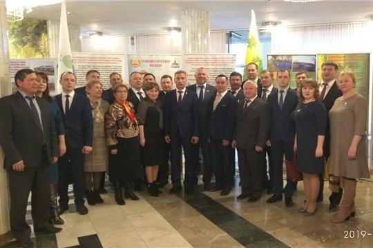 Делегация Чебоксарского района приняла участие в республиканском мероприятии, посвященном Дню местного самоуправления