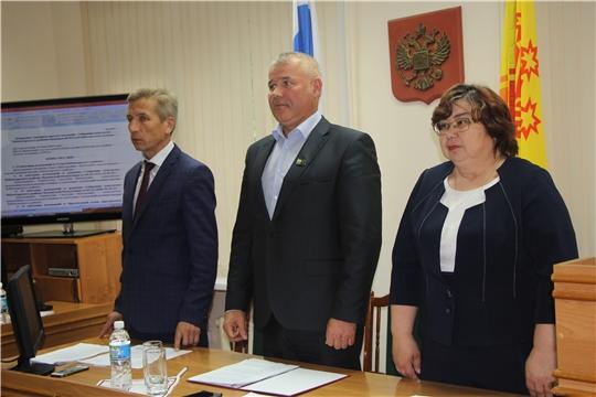 В администрации Чебоксарского района прошло очередное тридцать шестое заседание Собрания депутатов Чебоксарского района Чувашской Республики шестого созыва