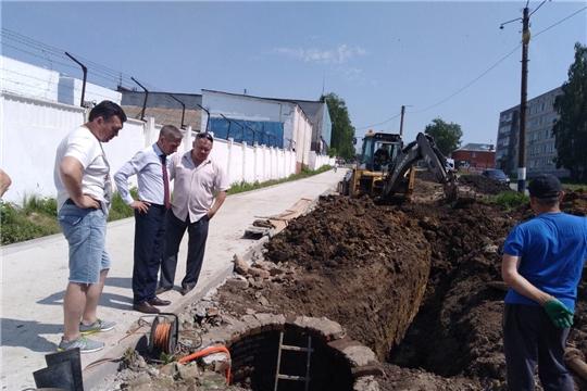 В селе Ишлеи Чебоксарского района идет строительство аллеи