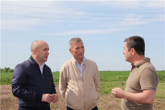 Сергей Артамонов ознакомился с ходом работ по заготовке сенажа на полях Агрофирмы «Ольдеевская»