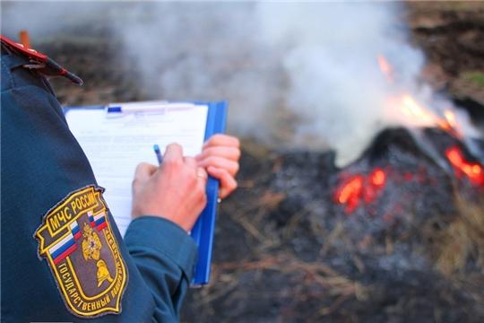 В Чувашии 134 человека привлечены к ответственности за сжигание сухой травы и разведение костров