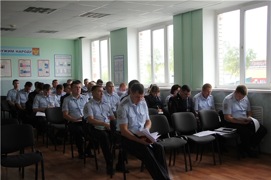 В ОМВД Чебоксарского района прошло оперативное совещание по итогам оперативно-служебной деятельности за 1 полугодие 2019 года