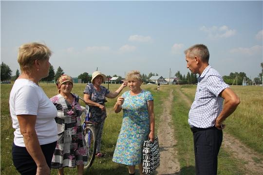 Глава администрации Чебоксарского района посетил д. Нижний Магазь, где ознакомился с  эксплуатацией водоснабжения деревни