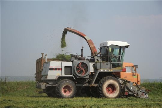 В ООО СХК «Атлашевский» заготавливают сенаж по второму укосу