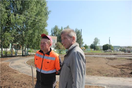 В Чебоксарском районе благоустраивается еще одна общественная территория в рамках программы «Инициативное бюджетирование»