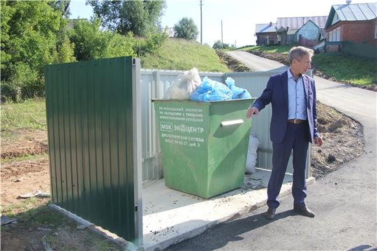Поселения Чебоксарского района обустраиваются новыми евроконтейнерами