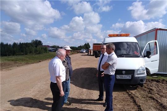 Министр транспорта и дорожного хозяйства ЧР посетил автомобильную дорогу «Кугеси-Икково-Тохмеево»