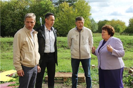 Председатель Государственного Совета Чувашской Республики Альбина Егорова ознакомилась с ходом реализации национальных проектов в Чебоксарском районе