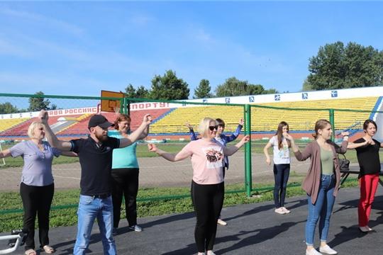 Сотрудники администрации города Алатыря – активные участники акции «Единый день зарядки»