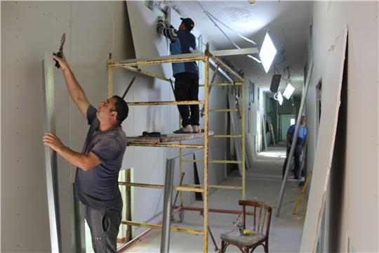 В детской поликлинике Алатырской центральной районной больницы идёт капитальный ремонт