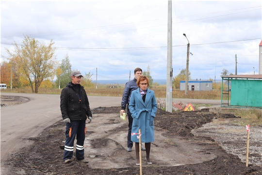 В Алатыре продолжается строительство дороги по улице Кленовая