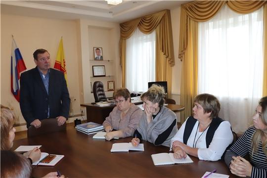 Глава администрации города Алатыря В.И. Степанов провёл рабочую встречу с заведующими детскими садами