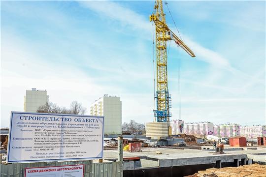 В Чебоксарах продолжается строительство 10 новых детских садов