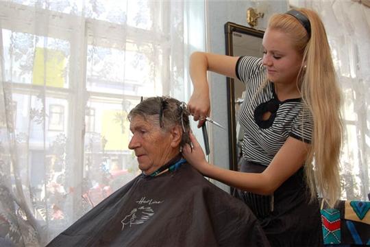 Чебоксарам 550: акция для ветеранов от парикмахерских города