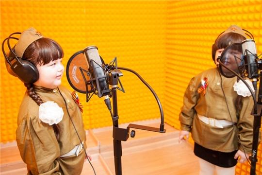 Воспитанники детских садов г. Чебоксары начали запись музыкального диска ко Дню Победы