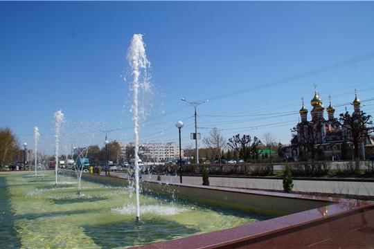 В Чебоксарах фонтаны возле универмага «Шупашкар» вновь начали свою работу