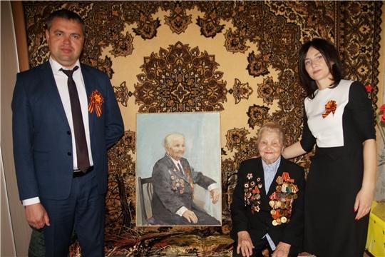 Глава администрации Ленинского района г.Чебоксары Максим Андреев поздравил ветерана Великой Отечественной войны Агриппину Янович