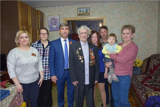 Ветерану Великой Отечественной войны Анатолию Сергееву вручена юбилейная медаль «В память о 550-летии города Чебоксары»