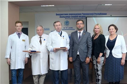 Отличившимся работникам здравоохранения вручили юбилейную медаль «В память о 550-летии города Чебоксары»