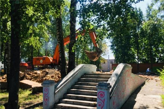 Модернизация городских парков: в детском парке им. А.Г. Николаева начались работы по благоустройству