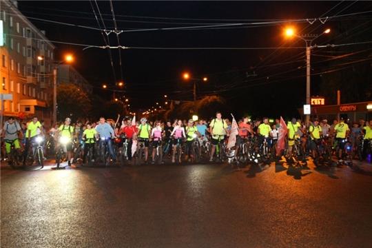 Во время ночного велопробега 23 августа в Чебоксарах ограничивается движение транспорта
