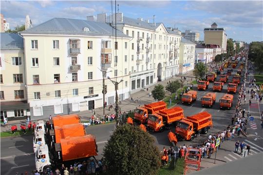 Мощь, сила и красота: в день 550-летия в Чебоксарах прошел парад коммунальной техники