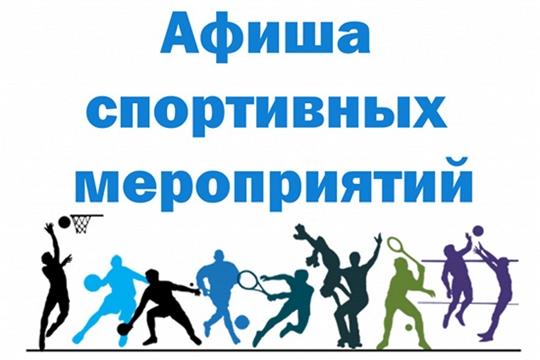 Афиша спортивных мероприятий на дворовых площадках Чебоксар с 29 августа по 1 сентября