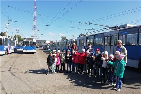 Чебоксарские дошколята посетили троллейбусное управление