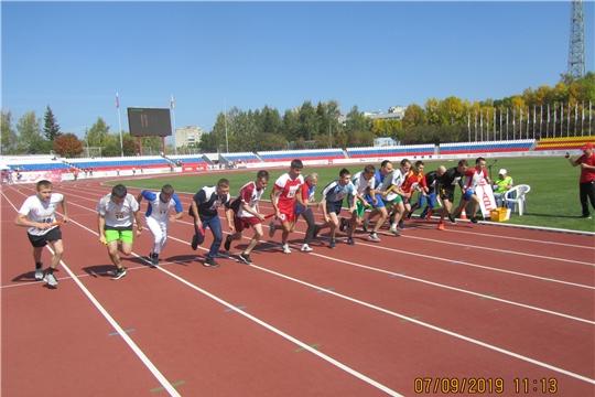 На легкоатлетической эстафете газеты    «Советская Чувашия» Калининский район Чебоксар завоевал три медали