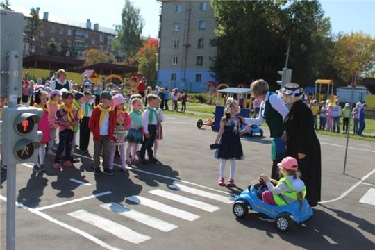 Чебоксарские дошколята закрепляют правила безопасного поведения на дорогах