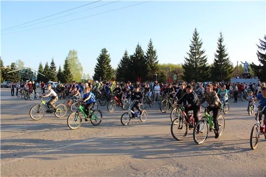 Велопробег в честь Дня Победы собрал в Канаше рекордное количество участников - порядка трехсот человек