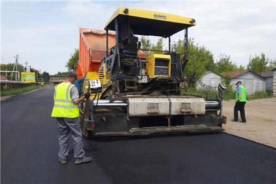 В городе Канаш продолжается работа по ремонту автомобильной дороги «ул. Новая»