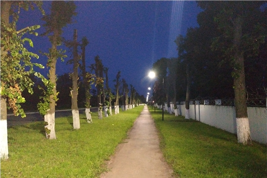 Новое освещение установлено по улице Красноармейская города Канаш