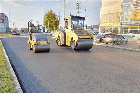 В городе Канаш ведется ремонт кольцевой развязки ул. Кооперативная, ул. Полевая, ул. Зеленая