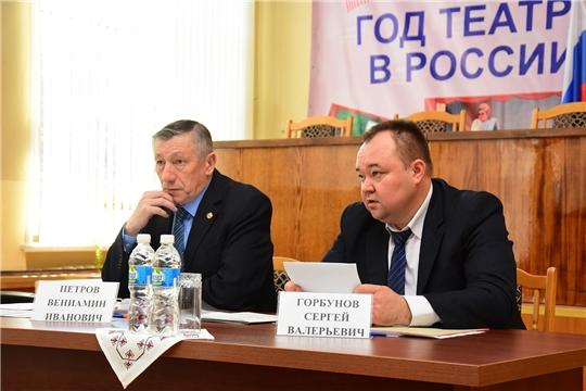 Участие Вениамина Петрова в  расширенном заседании КЧС и ОПБ Ибресинского района