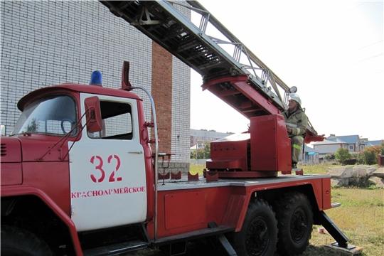 Как проходили пожарно-тактические учения в селе Красноармейское