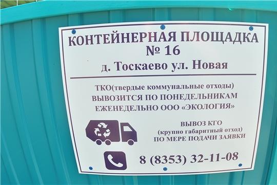 В рамках национального проекта «Экология» в Чувашской Республике завершается обустройство контейнерных площадок для сбора ТКО