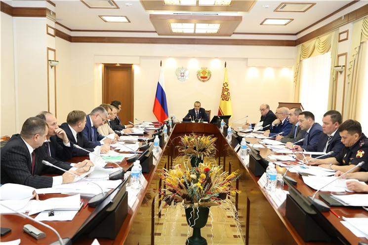 Глава Чувашии Михаил Игнатьев провёл заседание Координационного совещания по обеспечению правопорядка.