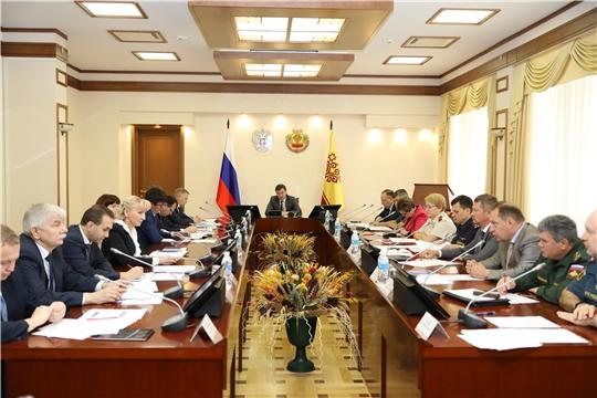 Заседание Комиссии по предупреждению и ликвидации чрезвычайных ситуаций и обеспечению пожарной безопасности в Чувашской Республике